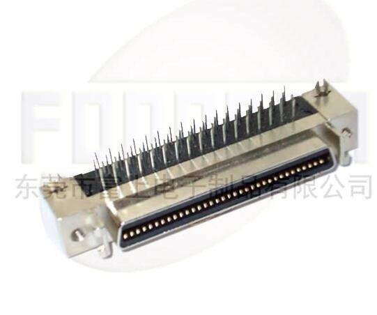 Scsi 68pin Connector Ringht Angle Female
