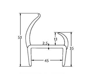 Seal Gaskets Door Pvc Profile Seals011045cp