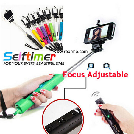 Selfie Stick Wireless Bluetooth Monopod Withclip Focus Handheld Telescopic