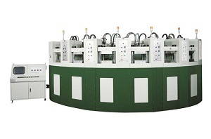Sell Curved Automatic Eva Foaming Injection Moulding Machine Kou Yi