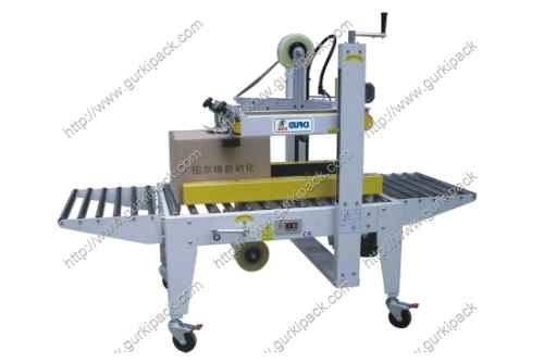 Semi Automatic Carton Sealer With Top And Side Belts Driven