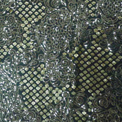 Sequin Embroidery Fabrics Sg143