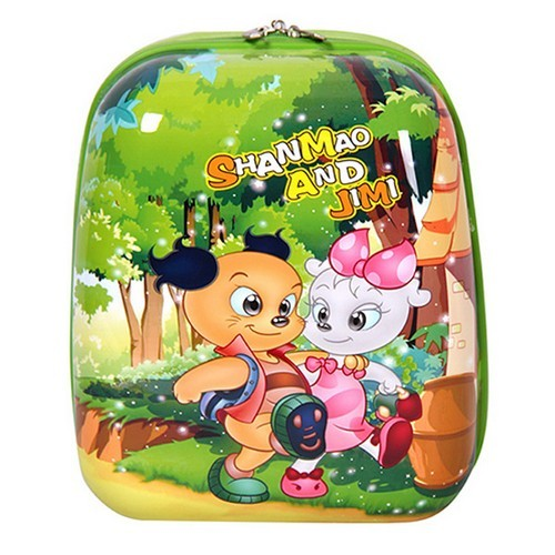 Shanmao Cartoon Hard Lightweight Suitcase Childrens Travel