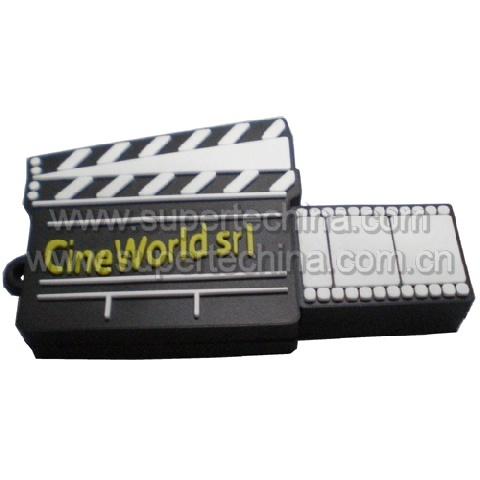 Silicone Cinema Slate Shaped Usb Flash Drive S1a 6111c