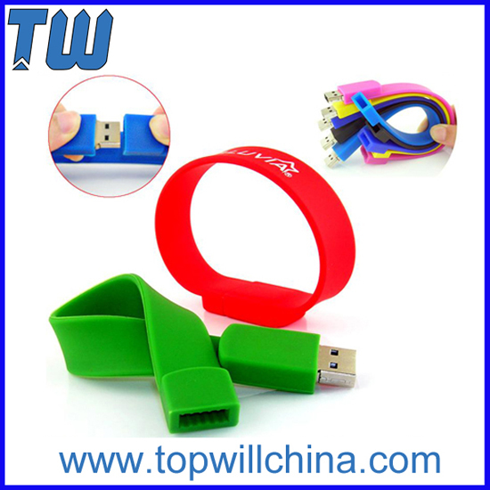 Silicone Wristband Bracelet Thumb Drives Fast Delivery