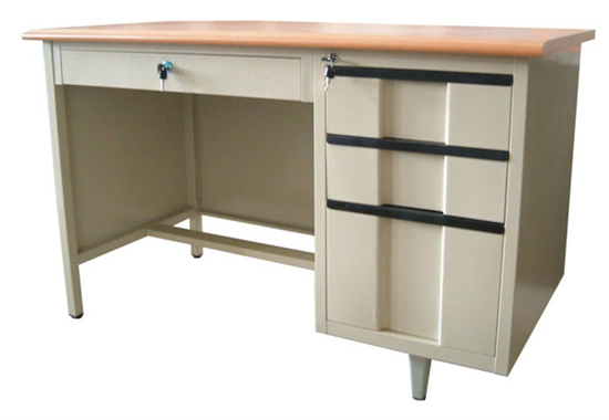 Single Cabinet Steel Executive Desk Height Adjustable Metal Office