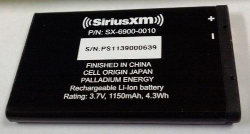 Siriusxm Lynx Battery Sx 6900 0010