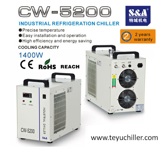 Small Industrial Chiller For 500 1500 W Led Uv Curing System