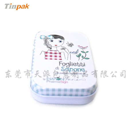 Small Rectangular Soap Metal Tin Box