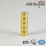 Small Round Magnet With Gold Coating