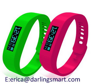 Smart Bracelet With Accelerometer Silicone Wristband Bluetooth 2 1 4 0 Pedo