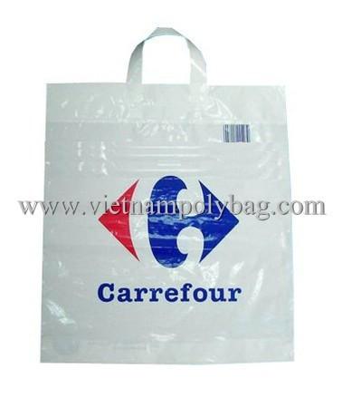 Soft Loop Plastic Bag For Shopping