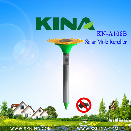 Solar Mole Repeller With Led Light