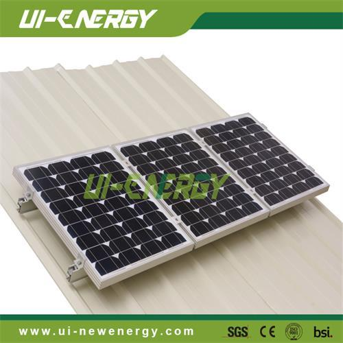 Solar Power System Pitched Tin Roof Mounting Racks For Panel