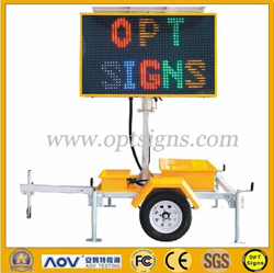 Solar Powered Led Trailer Mounted Vms B Size