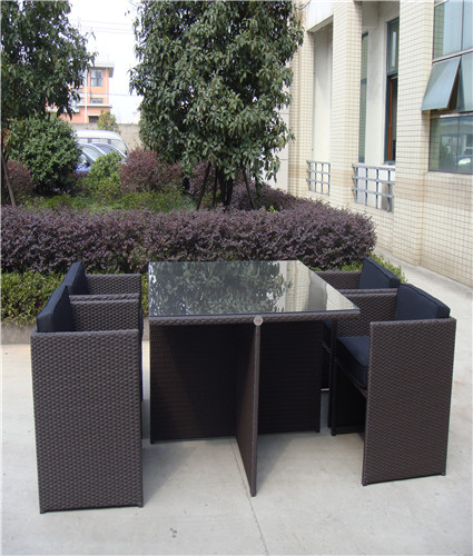 Space Saving Rattan Dining Set