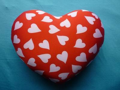 Spandex Materal And Eco Friendly Eps Foam Stuffing Heart Shaped Back Cushio