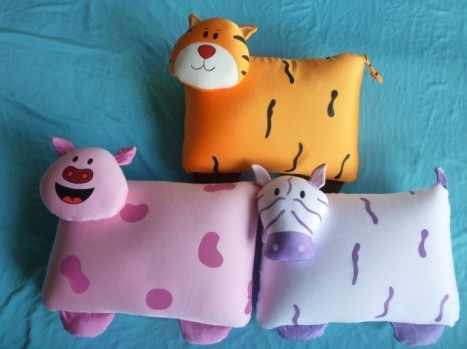Spandex Materal And Eco Friendly Foam Stuffing To Cube Shaped Pillow Pets W