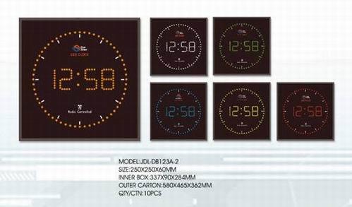 Square Led Digital Wall Clock