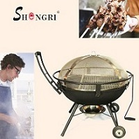 Srbq 2302 Charcoal Bbq Grill Cast Iron Barbecue