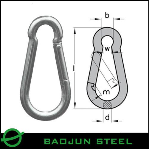 Ss304 316 Type Sob 10 8 Wll 3150 Kgs Sika Stainless Steel Eye Hook