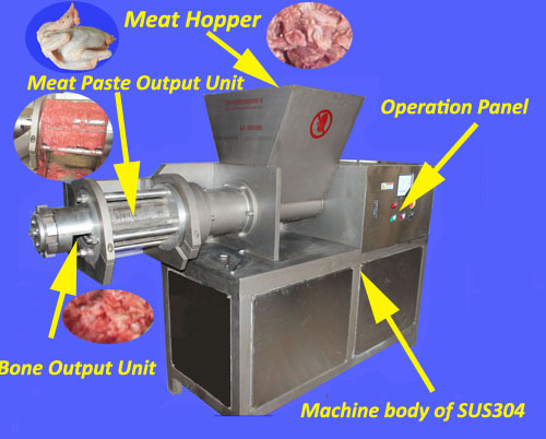 Stainless Steel Chicken Poultry Deboning Machine For Making Meat Paste And