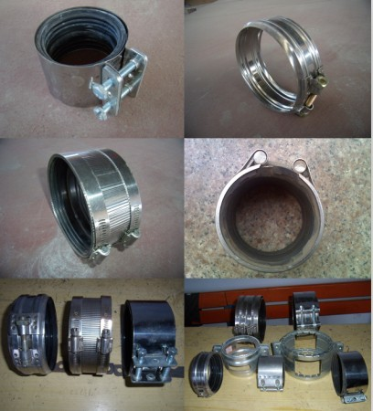 Stainless Steel Clamps With Epdm Rubber