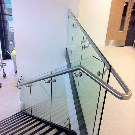 Stainless Steel Glass Handrail For Stairs Or Balcony