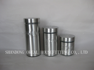 Stainless Steel Glass Jars With Metal Lids