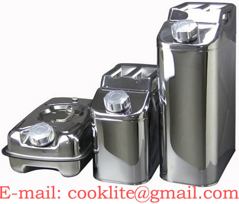 Stainless Steel Jerry Can Petrol Fuel Oil Drum
