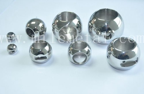 Stainless Steel Three Way Valve Balls Precision Valves Components
