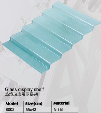Stair Glass 6 Steps Display Shelf