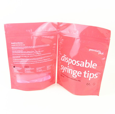 Stand Up Food Grade Ziplock Plastic Bags