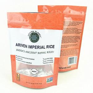 Stand Up Ziplock Plastic Rice Bags