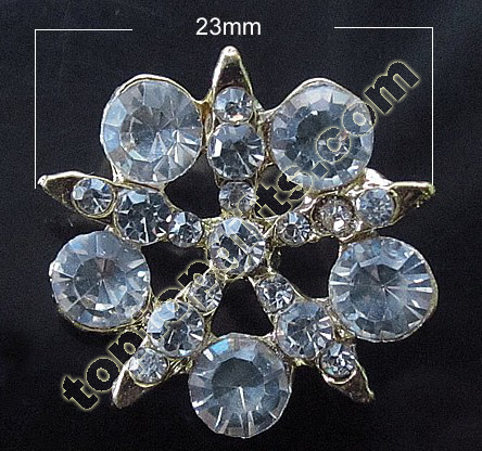 Star Rhinestone Button 2013 New Garment Accessories