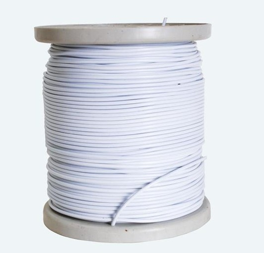 Steel Spring Curtain Wire White Pvc Coated