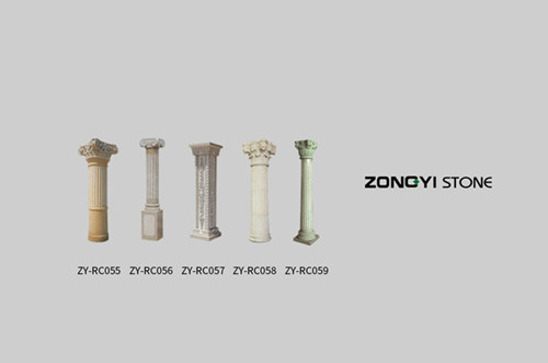Stone Column Special Shape Marble
