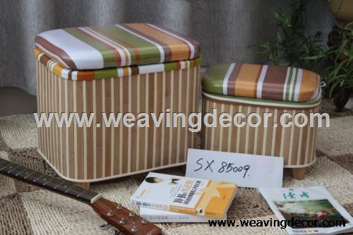 Storage Seat Stool With Lid