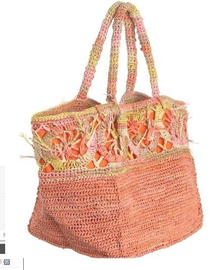 Straw Handbag Beach Bag Paper Fabric Grass Jute Rattan