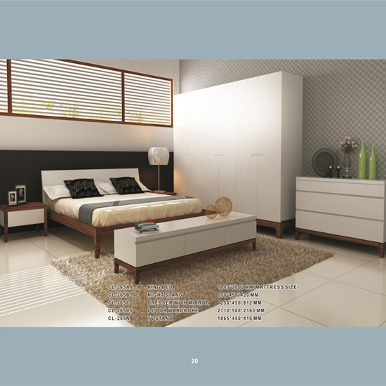 Stylish Bedroom Set With Solid Wood Leg Manufacture