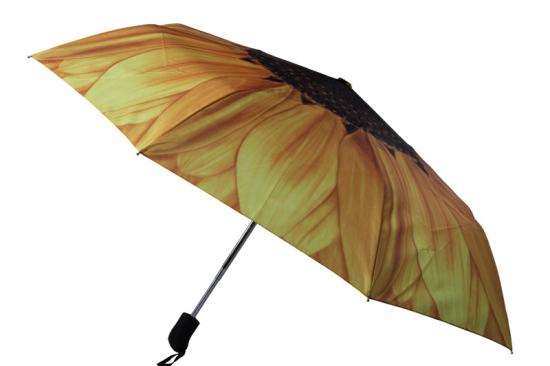Sunflower Shape Customized Ladies Parasol Umbrella