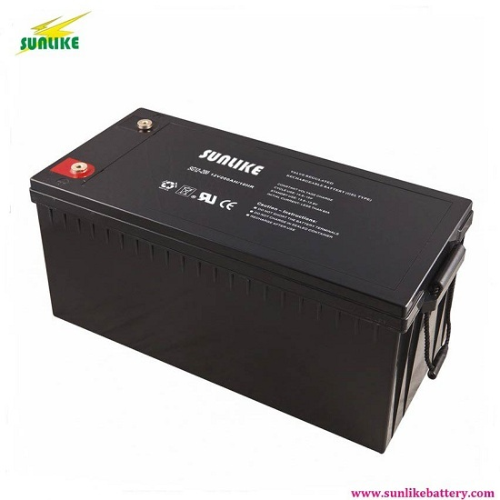 Sunlike 12v 200ah Deep Cycle Gel Battery For Solar System Ups