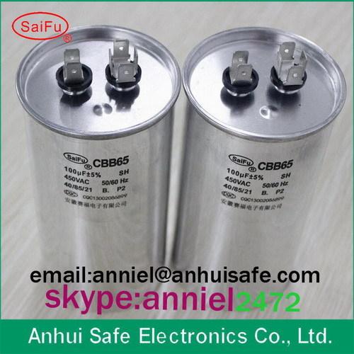 Supco Universal A C Compressor Capacitor 100 Mfd X 370 Volts 450vac Round M