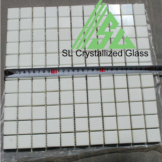 Super Thassos Glass Re Crystallized 1x1inch Square Mosaic