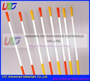 Supply Fiberglass Snow Stake High Strength Frp With Reflective Tap And Cap