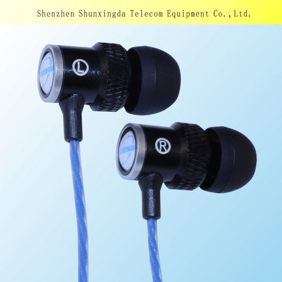 Sxd Newest Design In 2014 Fashion Metal Mobile Earphone With Mic