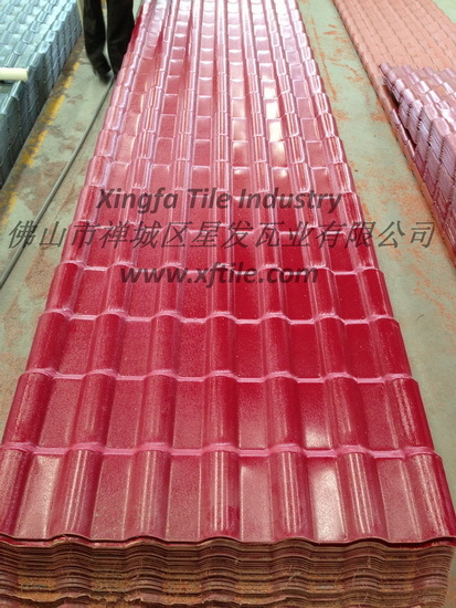 Synthetic Resin Roofing Tile Date Red