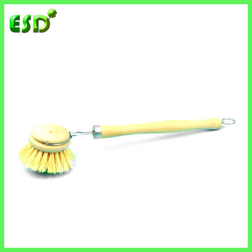 Tampico Dish Brush With Wooden Handle Fiber Cleaning Broom