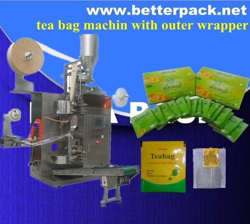 Tea Bags Machine With Outer Envelope Pack