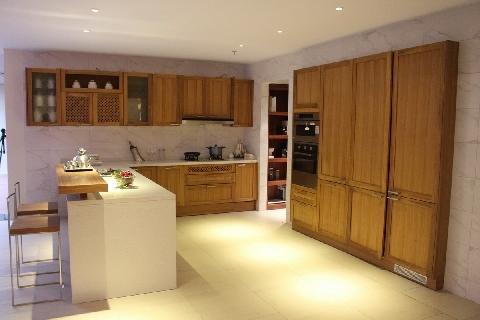 Teak Solid Wood Kitchen Cabinet